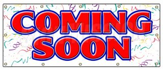 48x120 COMING SOON BANNER SIGN now grand opening signs open