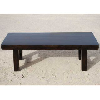 Rustic Solid Wood Black Backless Bench Outdoor Indoor Dining Patio