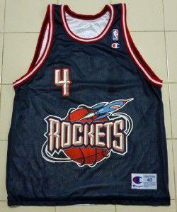 Vintage Reversed 2 Side Charles Barkley 4 Houston Rockets NBA Champion