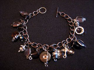 Altered Art Steampunk Charm Bracelet Goth Vampire LARP