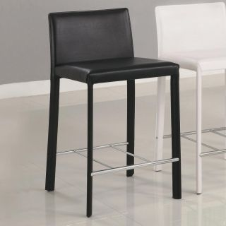 Black Metal Counter Height Stools Chairs by Coaster 100329BLK