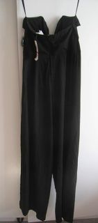 Bar III Sleeveless Black Bow Accent Jumpsuit Outfit Romper Wide Leg