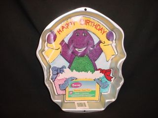 Wilton Barney Cake Pan Purple Dinosaur Mold Tin Instruc