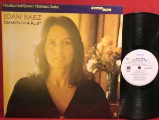 JOAN BAEZ Diamonds And Rust 1980 NAUTILUS HALF SPEED MASTER Audiophile