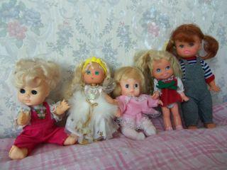 Lot of 9 Dolls Cherry Merry Muffin Mattel Uneeda Sunshine Barbie Baby