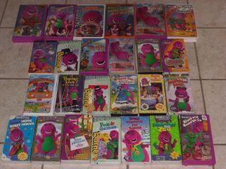 Barney lot VHS 22 tapes movies some rare the purple dinosaur dino