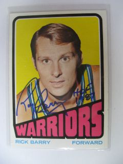 Rick Barry Signed Autographed 1968 Topps Trading Card Basketball NBA