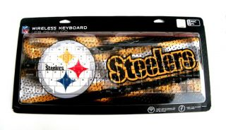 BRAND NEW & sealed PITTSBURGH STEELERS football USB WIRELESS KEYBOARD