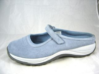 Barely Worn L L Bean Baby Blue Suede Mary Janes Womens Size 11 M