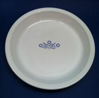 Corning Ware White Cornflower Blue 9 Pie Plate Baking Dish P 309