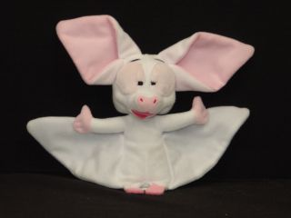 Poseable Plush Anastasia White Bat Bartok Stuffed Animal Albino