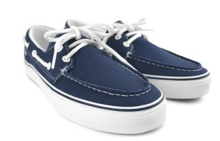 Vans Zapato Del Barco Mens Shoes Navy Blue New $60