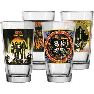 Band Concert Album Beer Pint Bar Glass Barware Drink Gift Set 4