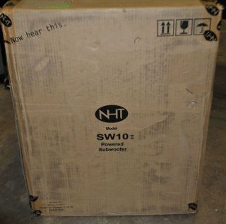 NHT SW 10 II Floorstanding Powered Subwoofer Gloss Black 150 Watt New
