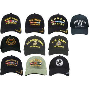 Military Veterans Adjustable Low Profile Baseball Caps