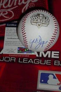 BUMGARNER SIGNED 2012 WORLD SERIES BASEBALL, SAN FRANCISCO GIANTS, PSA