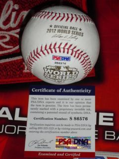 Signed 2012 World Series Baseball Detroit Tigers PSA DNA MLB
