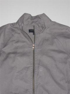 Stylish Mens Banana Republic Gray Lightweight Jacket   Linen/Cotton