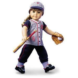 American Girl Dolls Softball Baseball Uniform I New Without Box