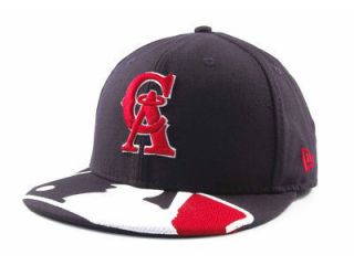 Los Angeles Natural MLB Baseball Logo Throwback Hat Cap 738 CA
