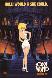 Cool World Advance Movie Poster Brad Pitt Kim Basinger