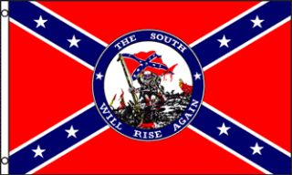 x5 South Will Rise Again Confederate Flag Civil War US CSA Rebel