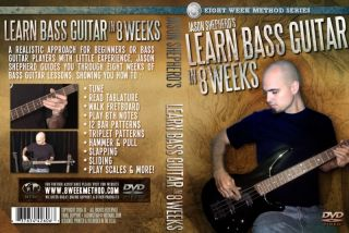 Learn to Play Bass Guitar in 8 Weeks DVD Video Lessons