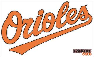 Baltimore Orioles 1 MLB Team Logo 8 75 x5 25 Decal New