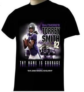 Baltimore Ravens Torrey Smith Tevon Jones Memorial T Shirt s 4XL