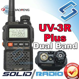 Plus Dual Band Radio Mini Portable Handheld Radio Earpiece UV3R