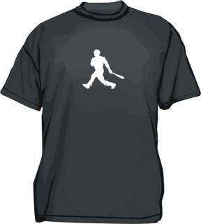 Baseball Batter Hitter Silhouette Logo Tee Shirt SM 6XL