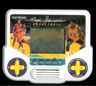 Magic Johnson basketball electronic handheld game by Tiger. Good