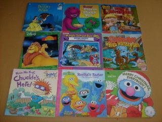 Lot of 9 Childrens Books   Magic School Bus, Sesame Street, Bob the