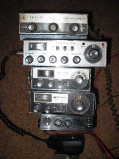 Johnson Cobra Midland Realistic 5 Citizens Band CB Radios