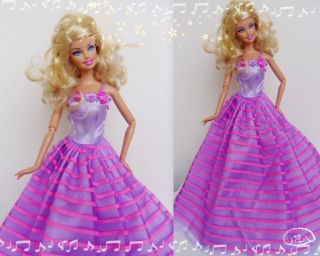 Handmade Princess Wedding Clothes Party Dresses Gown Outfit for Barbie