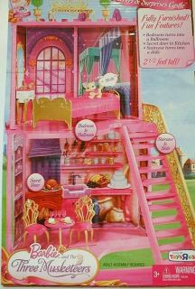 NIB Barbie and The 3 Three Musketeers Castle Palace House Furniture