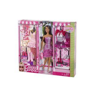 Barbie Kidspicks Fashions Nikki Doll Gift Set New