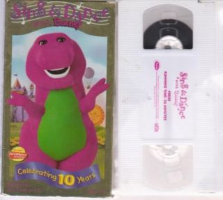 Barney Sing and Dance Celabrating 10 Years Kids VHS Time Life Video