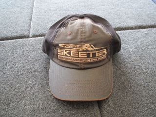 Skeeter Boats Pro Washed Leather Twill Hat Cap Bass Fishing