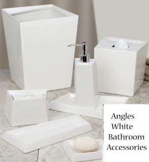 White Ceramic Bath Accessories Bathroom Collection Choice