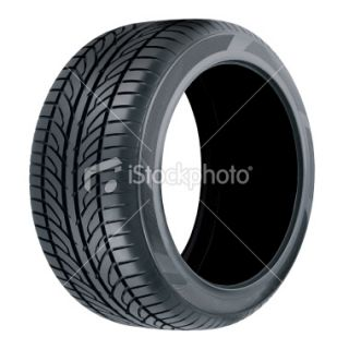 stock photo 4142970 tire clipping path