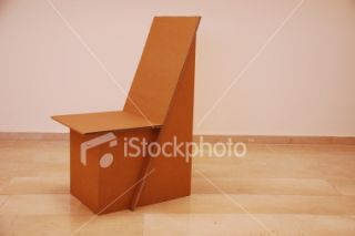 Cardboard Recycled Chair Royalty Free Stock Photo