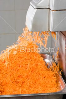 stock photo 14824984 carrot slicing machine