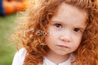stock photo 10855678 cute little red haired girl