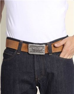 Image 3 of Levis Fort Plaque Buckle Leather Belt