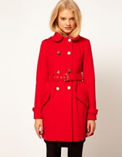 Image 1 of ASOS Cute Military Fit And Flare Coat