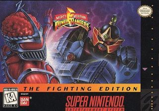 Mighty Morphin Power Rangers The Fighting Edition Super Nintendo, 1995