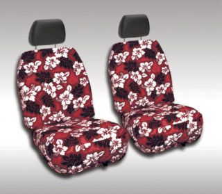 2009   2013 Toyota Corolla Front CUSTOM FIT RED HAWAIIAN SEAT COVERS