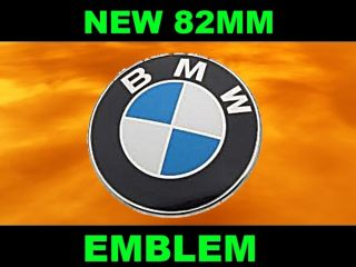 BMW ROUNDEL HOOD TRUNK EMBLEM 3 5 7 SERIES 82 MM PART NUMBER