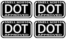 DOT D O T D.O.T. DOT SNELL M2010 BLACK & WHITE (4 PACK) Stickers WVDT